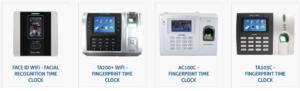 Four FingerCheck time clocks.