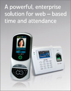 Poster of Fingercheck time clock - A powerful, enterprise solution for web-based time and attendance.