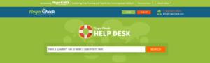 Fingercheck help desk portal homepage.
