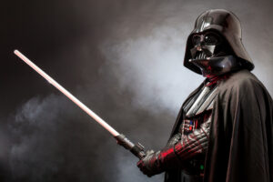 Darth Vader wielding light saber: leadership lessons learned from Star Wars.