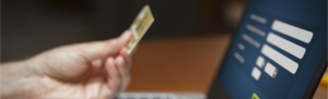 Online shopper enters their paycard's details online.