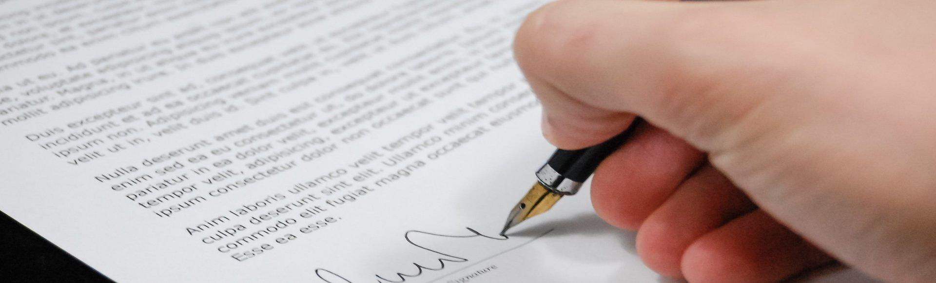 signing pen